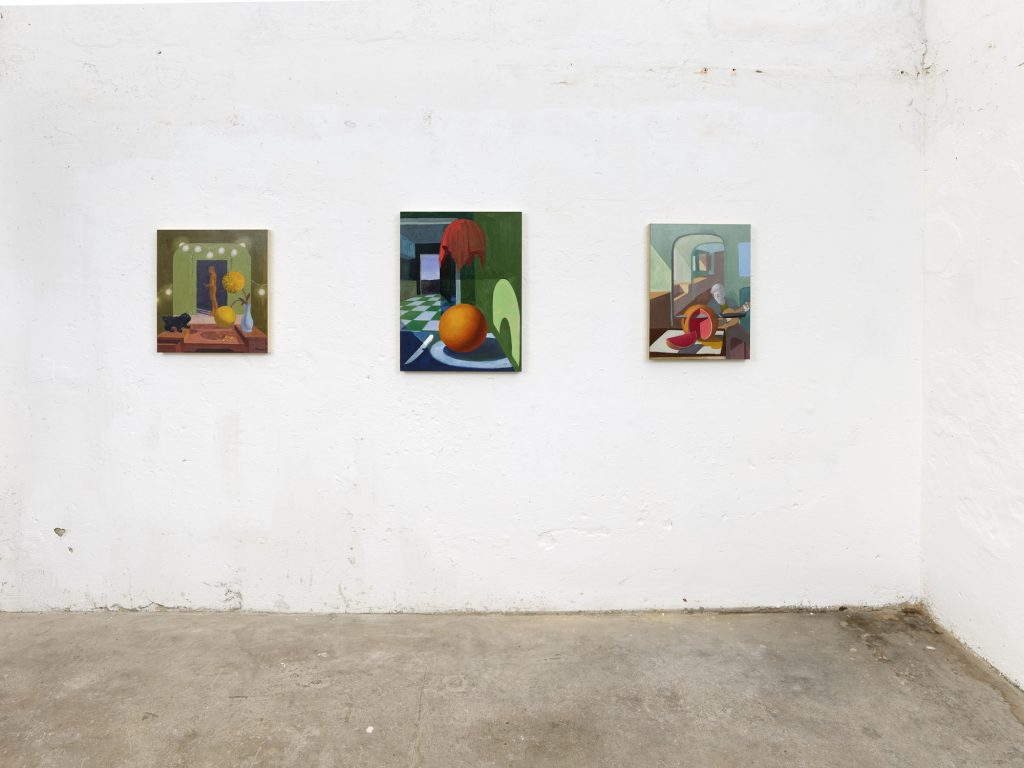 Exhibition A Matter of Touch, installation view, works by Joseph Kameen, curated by Jurriaan Benschop