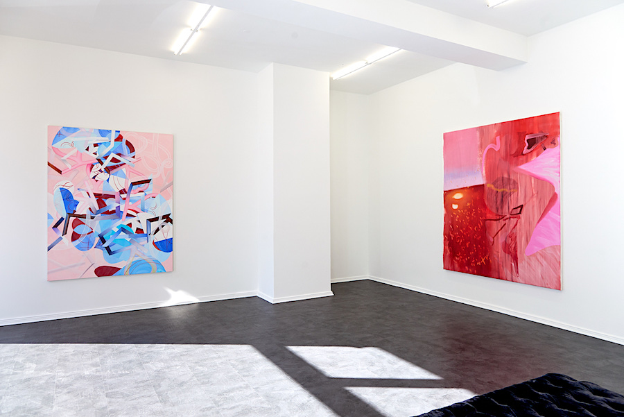 Exhibition The Other Half, paintings by Rebekka Löffler and Gina Malek, curated by Jurriaan Benschop