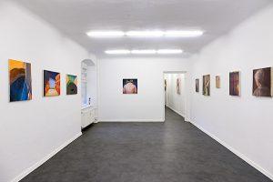 Exhibition view The Other Half, works by Rebekka Löffler and Lia Kazakou