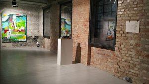 Exhibition Reimagining Europe, works by Michael Markwick, Mark Manders